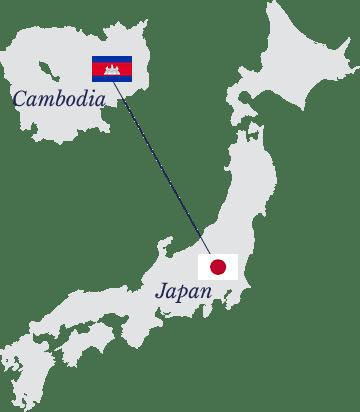 カンボジア−日本